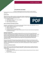 Advice on Positional Asphyxia FactSheet