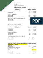 EJERCICIO EMPRESA HALLOWEEN, S. A. CONTROL PRESUPUESTAL