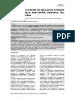 Seguridad de la toma de infusiones herbales en el embarazo manzanilla, valeriana, tila, té y meta-poleo