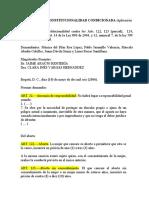 SENTENCIA DE CONSTITUCIONALIDAD CONDICIONADA