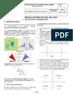 6 - GEOMETRIA - SEM  11 Y 12 - TRANSFORMACIONES - PLANO CARTESIANO