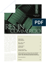 Res in Commercio 01/2011