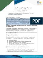 Guía de actividades y rúbrica de evaluación - Unidad 1 - Tarea  1 - Analizar un proceso productivo.docx