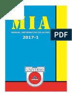 MIA - Manual Informativo do aluno - Universo