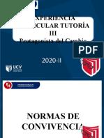 NORMAS DE CONVIVENCIA TUTORÍA 2020-II