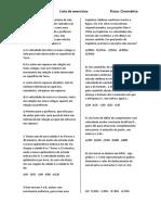 Lista de Exercícios IME jr 01