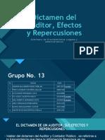 Dictamen del Auditor, Efectos y Repercusiones.pptx