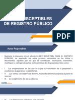 Actos Susceptibles de Registro
