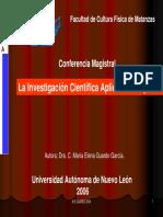 investigacion cientifica en E.F.