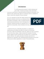 Indian Contract Act - III