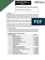 SILABO ASISTENTE ADMINISTRATIVO Y DE RRHH ENERO 2O2O