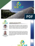 SER-CAP - Introducción a la energía solar Fotovoltaica