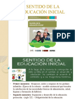 SENTIDO DE LA EDUCACIÓN INICIAL