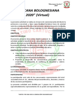 BASES GINCANA BOLOGNESIANA 2020