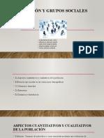 Población y grupos sociales
