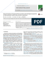 Characterisation of improved foam aeration and rheological properties