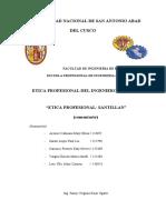 ETICA PROFESIONAL-SANTILLAN
