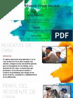 RESIDENTE Y SUPERVISION  DE OBRA