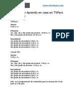 Horarios de Aprendo en casa en TVPerú y Canal IPe Semana 13.pdf