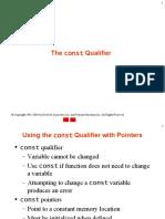 3.const qualifier