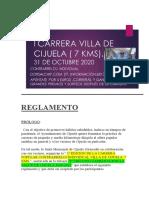 REGLAMENTO 7kms Cijuela 2020 31oct 2020 16h
