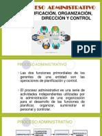 PRIMERA CLASE - PROCESO ADMINISTRATIVO - PLANIFICACION