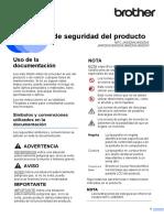 Guía de seguridad del producto Impresora Brother