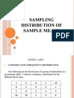 SAMPLING DISTRIBUTION OF SAMPLE MEANS(GOROSPE)