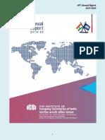 ICSI Annual Report 2019 2020