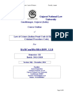 Law of Crimes-Course Outline (2013-18) Introduction