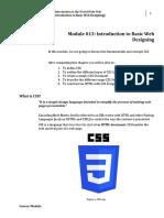WEEK 13 INTRODUCTION BASIC WEB DESIGNING