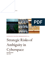 Strategic Risks of ambiguity in cyberspace