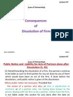 47. Dissolution of Partnership