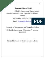 Internship report Aitasam