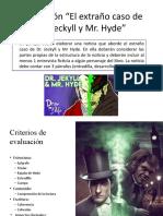 Evaluación Dr. Jeckyll y Mr. Hyde