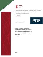 Laura Congo e a família escrava do Barão de Tinguá. Reflexões sobre a família no Vale do Paraíba fluminense (1830-1888).pdf