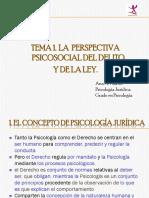Tema 1. La Perspectiva Psicosocial Del Delito y de La Ley