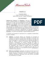 BEEF3 - Fato Relevante - Programa Recompra