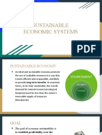 Sustainable Economic Systems