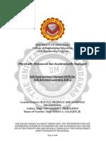 BCE 312 (Highway and Railroad Engineering) SIM SDL (Week 1-3)