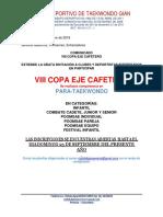 COMUNICADO VIII COPA EJE CAFETERO pdf