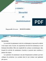 module sécurité et maintenance chapitre I spécialité L3 IMMT