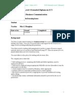 Unit 1 - Digital Business Communication Assignment