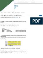 Cara Mencari Network dan Broadcast