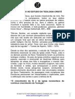 INTRODUÇÃO AO ESTUDO DA TEOLOGIA CRISTÃ