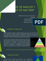 MASLOW Y MAX NEEF