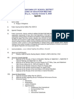 Watertown City School District Board of Education agenda Oct. 6, 2020