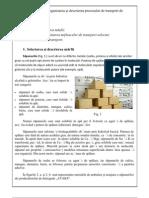 organizarea şi descrierea procesului de transport de mărfuri.