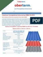 FICHA TECNICA COBERTERM  TRAPEZOIDAL PMMA FG UPVC 6 IW 176 40-940 V1-2020 2,2.5,3 mm iw