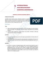Writing a Scientific Research Article